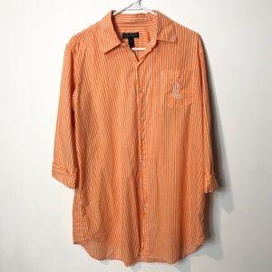 Lauren Ralph Lauren sleep button down shirt top